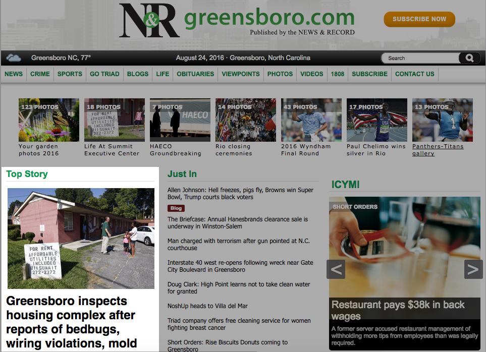 GSOHC in the Greensboro News & Record