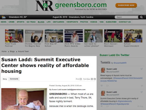 Greensboro News & Record's Susan Ladd: Summit Executive Center shows reality of affordable housing