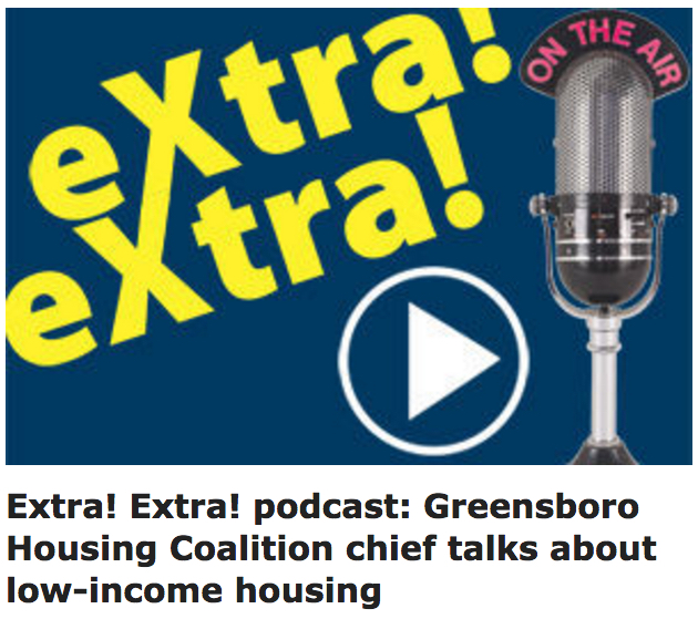 Extra! Extra! podcast: Greensboro Housing Coalition chief talks about low-income housing